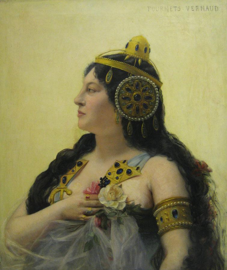 Mme Deschamps-Jehin, créatrice du rôle de Dalila à l'Opéra de Paris, par Marie Fournets-Vernaud. [© BnF-BmO]